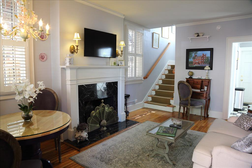 Living Room Dining With Gas Fireplace